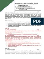 FYBSc. Chemistry Sem 1 & 2  Syllabus  2019-20