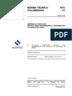NTC 61 B.A. método para determinar el contenido de cloruros en vinos.pdf