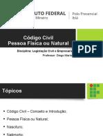 DV156117-4º Aula - Pessoa Natural