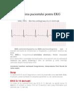 Pregatirea Pacientului Pentru Ekg