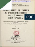 Spinoza Interpreation l'Ecriture
