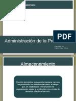 Administración de Producción (Gestión de Almacenamiento).