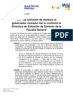 Comunicado - No hay extensión de dominio a bienes del gobernador Carlos Caicedo (1)