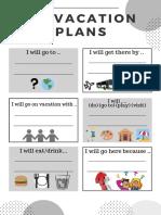 Plan a Vacation Communicative Activity