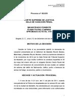 SENTENCIA 40629-13 CADENA DE CUSTODIA
