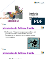 Intro to Software Quality
