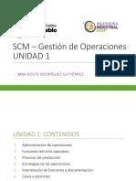 Unidad 1 SCM Gestion de operaciones