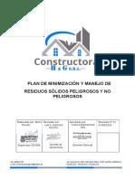 Plan de minimizacion y manejo de residuos sólidos
