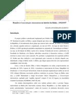Eliana Evangelista Batista - reações à concentração autonomista na bahia