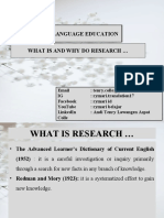 RESEARCH IN LANGUAGE EDUCATION