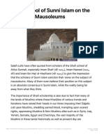 Shafi school of Sunni Islam on the legality of Mausoleums Wahhabism Unveiled