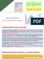 CAP 1 GASES REALES. Parte 2 Teoría Cinética CIV 2020
