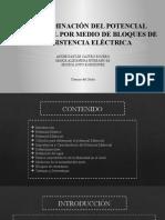 DETERMINACIÓN DEL POTENCIAL MATRICIAL POR MEDIO DE BLOQUES DE RESISTENCIA ELÉCTRICA