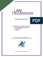 Plan de classification_Personnel de Soutien