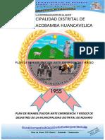 PLAN DE REHABILITACION ANTE EMERGENCIA Y RIEGO DE DESASTRES