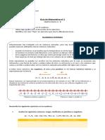 Matematica séptimo básico introducción números enteros