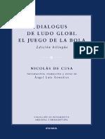 De Cusa, Nicolás. Dialogus; De Ludo Globi; El Juego de La Bola. 2015