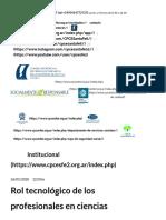 rol del pce en el área de sistemas - ingrassia Consejo Profesional de Ciencias Económicas de la Provincia de Santa Fe