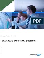 What's New in SAP S4HANA 1909 FPS02    WN_OP1909_FPS02_EN - Copy
