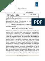 Guía de evaluación Causa y consecuencias
