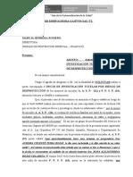 solicitud de desproteccion A CONOCIMIENTO UPE