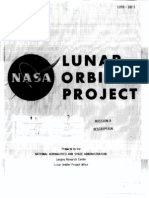 Lunar Orbiter Project - Mission a Description
