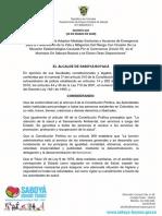 DECRETO 021 medidas sanitarias y acciones de emergencia ante COVID-19