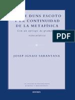 Saranyana, Josep-Ignasi. Sobre Duns Escoto y La Continuidad de La Metafísica. 2014