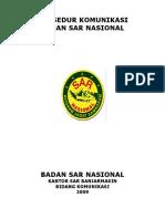 Cover Prosedur Komunikasi BASARNAS