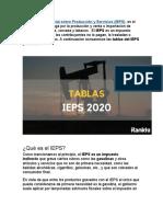 El IEPS y Su aplicacion