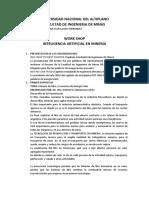 informe workshop inteligencia artificial en mineria