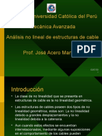 Análisis no lineal de cables