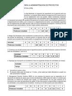 PROBLEMAS METODO DE LA RUTA CRITICA CPM