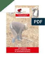 Valor de la producción agraria del departamento de Boyacá 2018