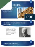 EL HECHO SOCIAL SEGUN EMILE DURKHEIM