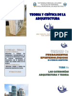 PRIMERA UNIDAD - TEMA 1 .- LAS CATEGORIAS ARQUITECTURA Y TEORÍA