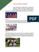 10 idiomas que se hablan en guatemala
