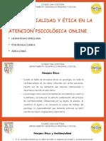 CONFIDENCIALIDAD Y ÉTICA EN LA ATENCIÓN PSICOLÓGICA ONLINE.