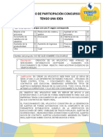 REGISTRO DE PARTICIPACIÓN EN CONCURSO TENGO UNA IDEA