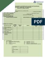 F2P-890-28 Formato de Internamiento de Residuos Sólidos No Peligroso