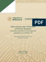 Observaciones Sobre Violaciones a Derechos Humanos Durante La Contingencia Sanitaria Por Covid-19 II Vf Ok