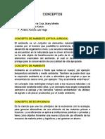 TAREA 01 CONCEPTOS DE DERECHO AMBIENTAL