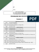 Programme Des Festivités