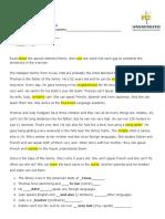 TALLER English worksheet CAN