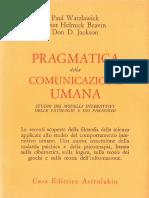 Watzlawick_Pragmatica comunicazione