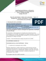 Guía de actividades y rúbrica de evaluación - Tarea  2 - Resignificar, refinar, profundizar y contextualizar el conocimiento de la Unidad 1..pdf