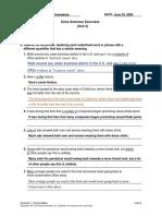Grammar exercises II PARCIAL ANDREA ALMENDARES