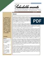 Boletín de la mesa de salud mental Vol. 3. N° 6