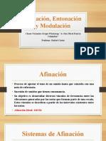 Afinacion, Entonacion y Modulacion
