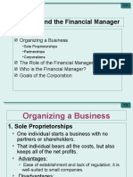 Role of Financial Manager (WEEK 2)